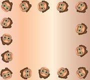 动画片面孔框架 免版税库存照片