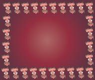 动画片面孔框架 库存照片