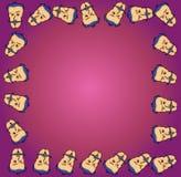 动画片面孔框架 免版税库存图片