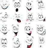 动画片面孔的例证 免版税库存照片