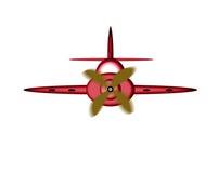 动画片飞机 免版税图库摄影