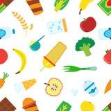 动画片食物的平的样式圆滑的人的与搅拌器,搅拌器 库存图片