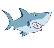 动画片鲨鱼。传染媒介例证 库存图片