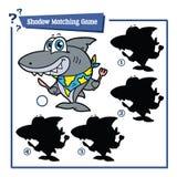 动画片鲨鱼比赛 免版税库存照片