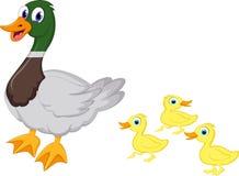 动画片鸭子家庭 免版税图库摄影