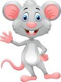 动画片鼠挥动的手 免版税库存图片