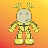 动画片类人动物、外籍人或者机器人 免版税图库摄影