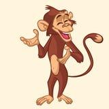 动画片猴子微笑 也corel凹道例证向量 免版税库存照片