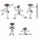 动画片猴子空手道 免版税图库摄影