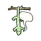 动画片死的蜥蜴 库存图片