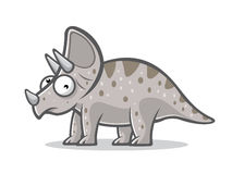 动画片滑稽的三角恐龙 图库摄影