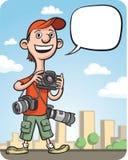动画片滑稽的摄影师 库存例证