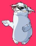 动画片滑稽的毛茸的动物微笑 免版税库存照片