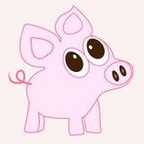 动画片滑稽的猪 免版税图库摄影