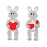动画片滑稽的玩具兔子 免版税库存照片