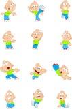 动画片滑稽的男孩 库存照片