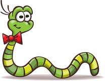 动画片滑稽的蠕虫 皇族释放例证