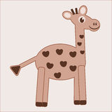 动画片滑稽的长颈鹿 库存图片