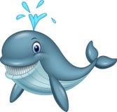 动画片滑稽的鲸鱼 库存例证