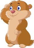 动画片滑稽的Groundhog 免版税库存图片