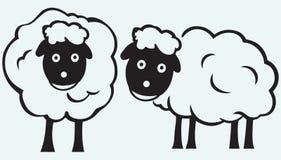 动画片绵羊 免版税库存照片