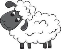 动画片绵羊 免版税图库摄影