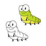 动画片绿色蝴蝶毛虫昆虫 免版税库存照片