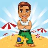 动画片巴西人男孩 皇族释放例证
