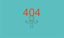 动画片404 库存照片