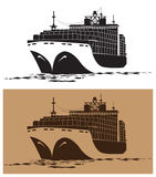 活动货物汉堡端口船 免版税库存图片
