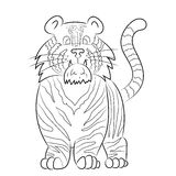 动画老虎的例证 免版税库存图片