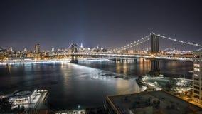 移动Timelapse天的纽约曼哈顿桥梁 股票视频