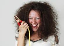 助推器电缆女孩 免版税图库摄影