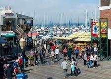 努力去做在码头39的全部在旧金山 免版税库存照片