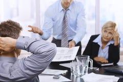 努力工作的Businessteam 免版税库存图片