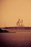 努力STS-134生成  免版税图库摄影