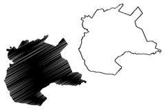 努尔苏丹首都哈萨克斯坦共和国,哈萨克斯坦地图传染媒介例证,杂文剪影努尔苏丹阿斯塔纳的地区 皇族释放例证