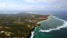 努沙Dua海滩美好的空中风景  股票录像