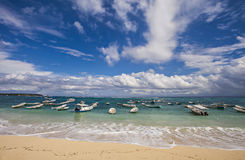 努沙Lembongan海滩,巴厘岛,印度尼西亚美丽的景色  免版税库存图片