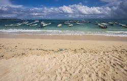 努沙Lembongan海滩,巴厘岛,印度尼西亚美丽的景色  库存图片