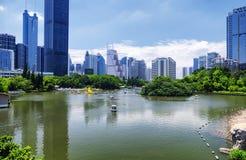 励致公园和深圳中国地平线 库存图片