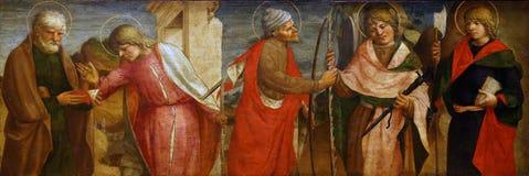 劳伦斯D `亚历山德罗:五位传道者 库存照片
