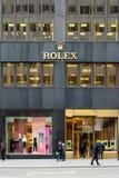劳力士商店NYC 免版税图库摄影