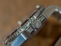 劳力士潜水艇人员,没有日期,手表 免版税库存照片