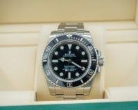 劳力士潜水艇人员,没有日期,手表 库存图片