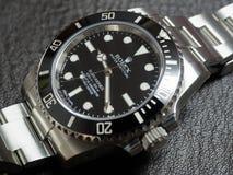 劳力士潜水艇人员,没有日期,手表 库存照片