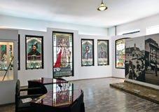 劳动人民文化宫内部,Targu穆列什县,罗马尼亚 库存图片