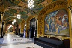劳动人民文化宫,Targu穆列什县,罗马尼亚 免版税库存照片
