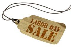 劳动节在纸价牌的销售标志 库存照片