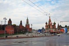 劳动节庆祝在莫斯科 免版税图库摄影